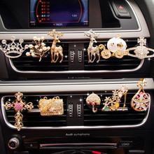 Automobile Car Air Outlet Decoration Sika Deer Pumpkin Cross Conditioner Decor Ornaments Accessories