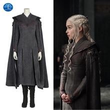 Game of Thrones Season 7 Cosplay Costume Daenerys Targaryen Cosplay Outfit Halloween Adult Women Dress Party Costume Custom Made the touhou project yukari yakumo cosplay costume halloween luxury party dress custom made
