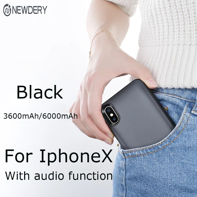 NEWDERY External battery case for iphone X XS Max XR 6000mAh high capacity Portable charger case power bank case for appleNEWDERY External battery case for iphone X XS Max XR 6000mAh high capacity Portable charger case power bank case for apple