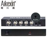 Aikexin SDI Splitter 4 Port 1x4 1 In 4 Out Splitter BNC Divisor With 3G SDI