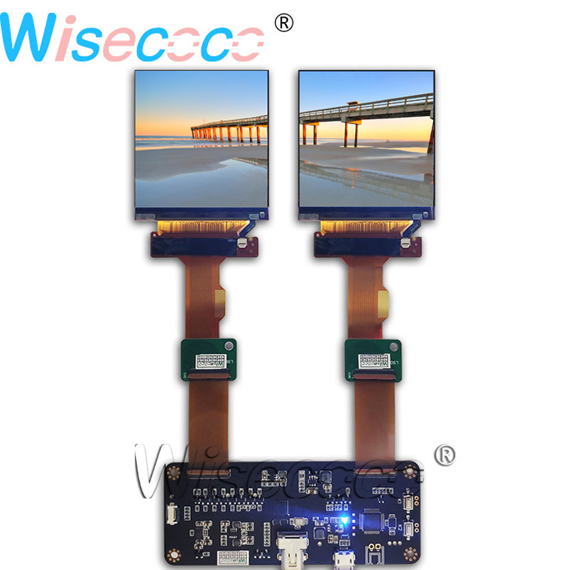 2.9 inch 1440*1440 dual LCD module screen display panel with new DP to MIPI 120HZ driver board for VR headset application2.9 inch 1440*1440 dual LCD module screen display panel with new DP to MIPI 120HZ driver board for VR headset application
