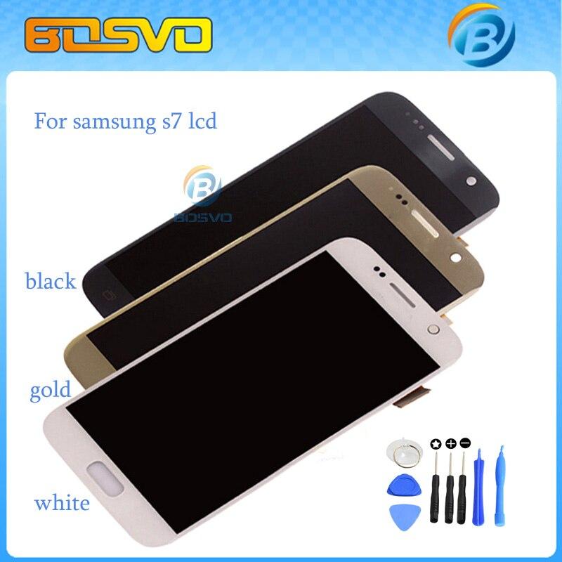 100%Guarantee Replacment Full screen for Samsung for galaxy S7 G930A G930F G930v G9300 lcd display with touch digitizer +tools
