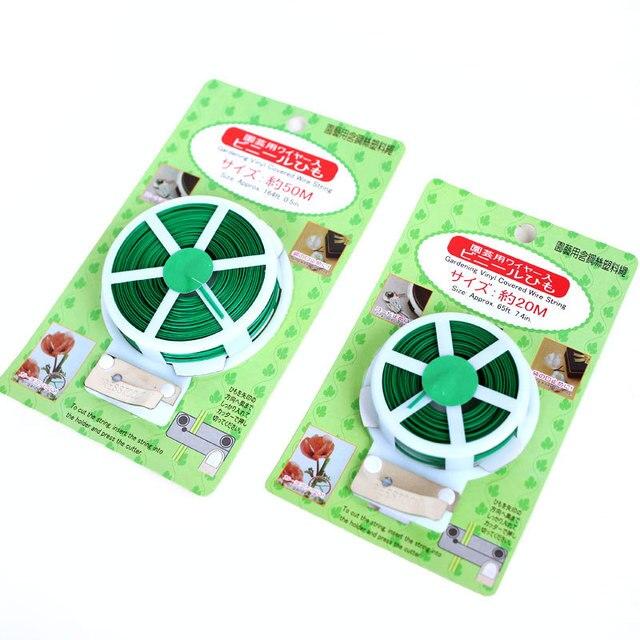 20 M/50 M Giardino Filo Verde Giardinaggio Vite Rampicante Piante Cavo di Linea di Collegamento Pianta Staffe Parti Bonsai Fiore cetriolo Uva Ratta 5