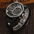Famous brand OHSEN quartz digital sport mens watch Two zone display black rubber band fashion popular wristwatch reloj masculino