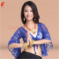2013new Style Ree Shipping Belly Dance Dancing Costume Butterfly Lace Top Tees Belly Dance Short Coat