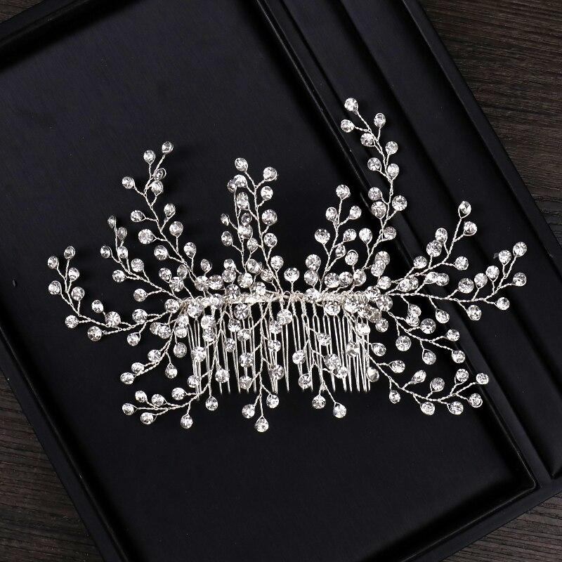 ALI shop ...  ... 32949522432 ... 3 ... 2018 New Design Silver Pearl Hair Jewelry Handmade Crystal Wedding Tiara Hair Combs Hot Sale Headpiece Bridal Hair Accessories ...