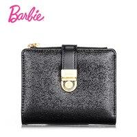 Barbie Simple Women Wallet Retro Female Purse PU Zipper Hasp Wallets Short Design Clutch Barbie Brand