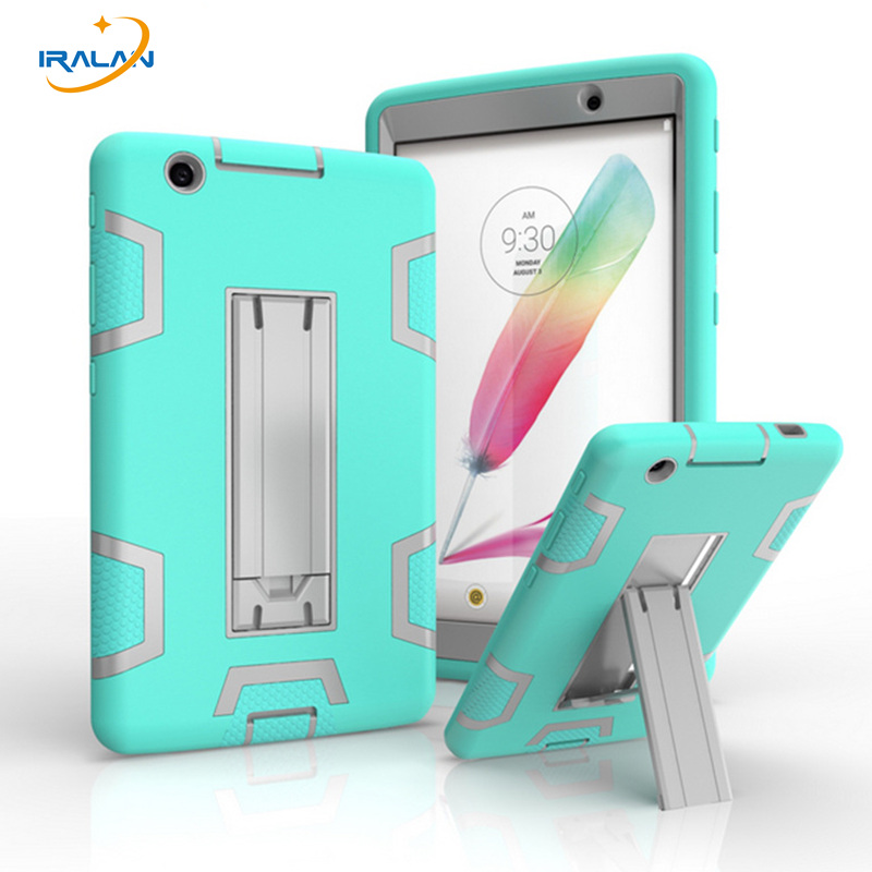цены 2017 New Case For LG G Pad 3 8.0 PC Tablet Armor Shockproof Hybrid Protective Stand Cover for LG Gpad 3 V520 V525 V521+film+pen