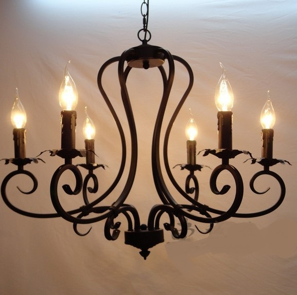 rustic living lamp zzp multiple chandelier fashion 6 candle light restaurant lamp large