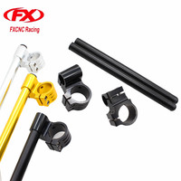FX CNC 7 8 22MM Universal Adjustable Clip On Ons Clipon Fork Handlebars Head 43MM Riser