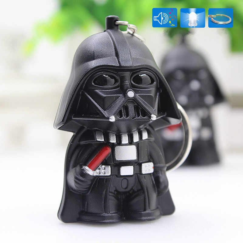 Boneca Star Wars Darth Vader Figura de Ação Filme Som Light Up LED Trooper Darth Vader Keychain Presentes Disponível