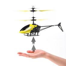 Летающий мини rc infraed индукции вертолет мигающий свет toys для детей квадрокоптер прохладный мода м2