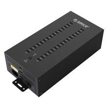 Промышленный USB концентратор с 30 портами USB 2,0, USB разветвитель с 2 режимами передачи данных или USB зарядным устройством, IH30P
