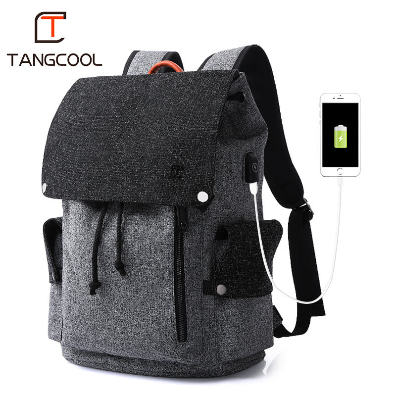 Tangcool Brand Casual Men Backpack Teenager Student Large capacity School Bag USB Charging Port Rucksack Unisex Waterproof BagTangcool Brand Casual Men Backpack Teenager Student Large capacity School Bag USB Charging Port Rucksack Unisex Waterproof Bag