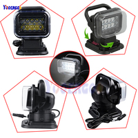 Rotating Remote Control LED Search Light Wireless Working Lamp Emergency Construction Lights for Boat Off road FOR Car SUV Cam