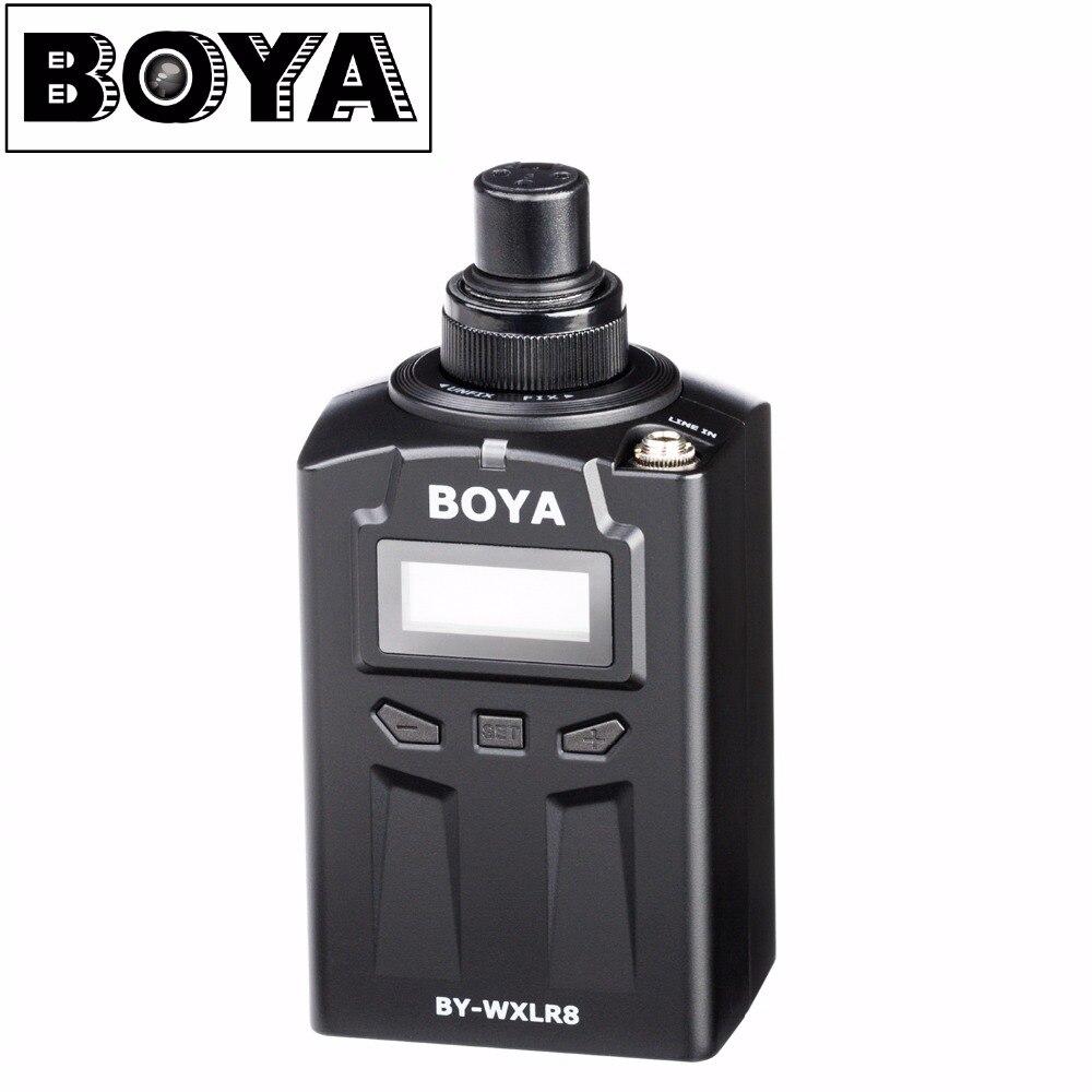 BOYA BY-WXLR8 Plug-in XLR Audio Trasmettitore con Display LCD per BY-WM8 BY-WM6 Lavalier Wireless Microfono Sistema