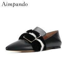 9110f413e Dois Desgaste Casual Sapatos de Couro Fivela de Mulheres Sexy Pontas Do Dedo  Do Pé Quadrado De Pele de Luxo Fino Mulas Sapatos B..