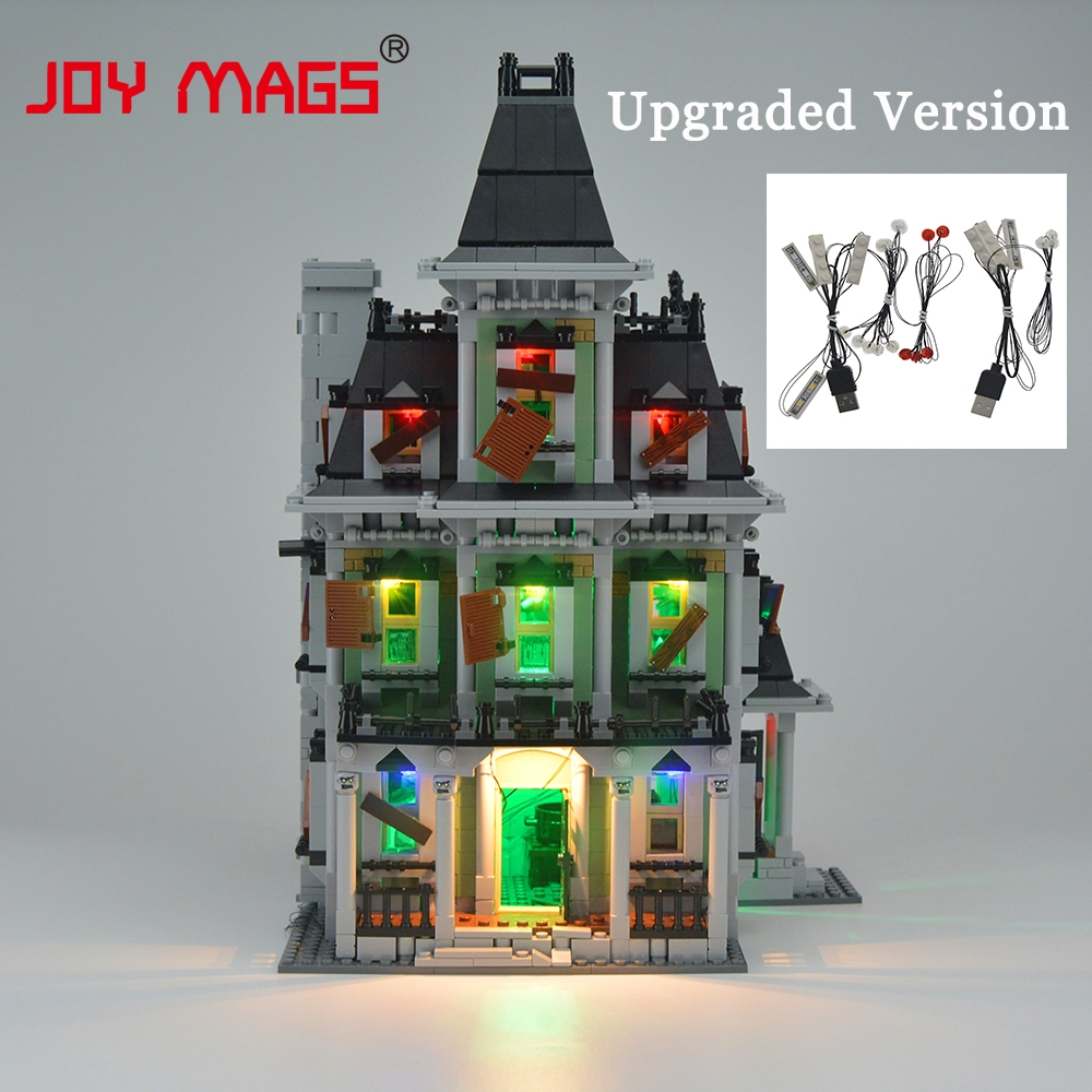 JOY MAGS Kit de iluminat cu LED-uri modernizate pentru creator 10228 City Monster Fighter Haunted House 16007