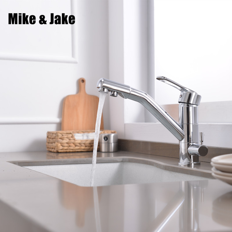 Filter kitchen Tap Faucets 3 function Kitchen Mixer Torneiras double function Faucet Chrome Finished Water Filter 3 Way sink tap 2015 double function kitchen faucet 3 way kitchen faucet sink mixer water kitchen dinking faucet three way sink mixer tap