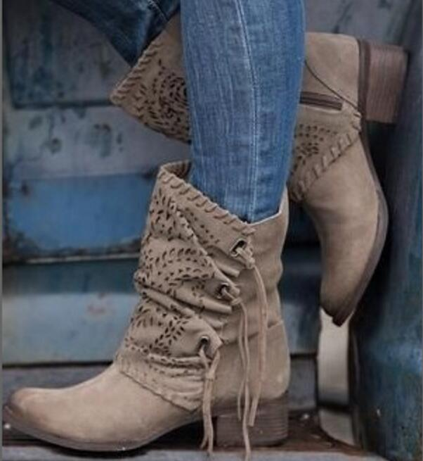9893fc8eb43 woman martin boots lady hollow out tassels ankle booties chaussures femme  ete zapatos mujer girls round toe women shoes AB0011