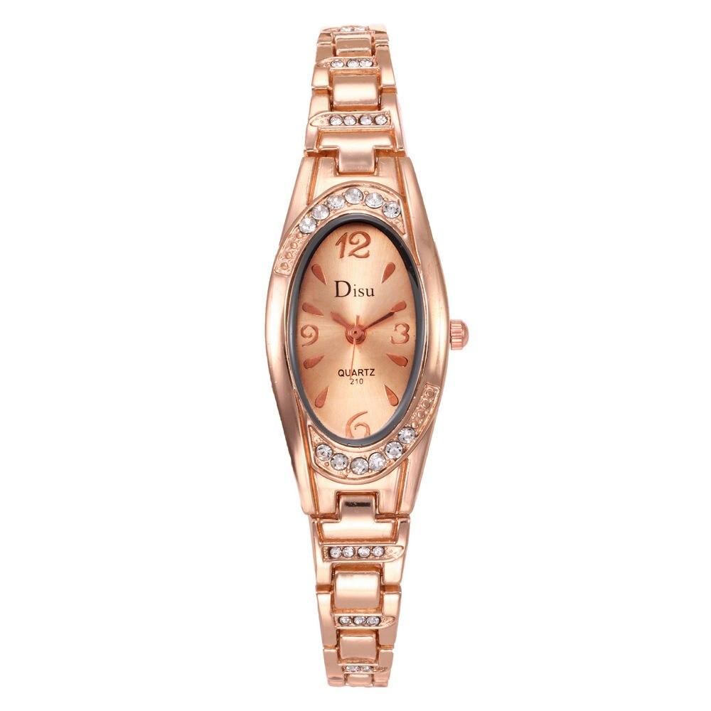 Oval Small Dial Watches For Women Elegant Rhinestone Bracelet Watch Ladies Diamond Dress Quartz Relogio Wrist Watch Relogio Saat
