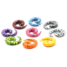 2Pcs Acrylic Spiral Ear Plug Stretching Tapers Body Jewelry Wholesale Fake Expander Tunnel Set Kit