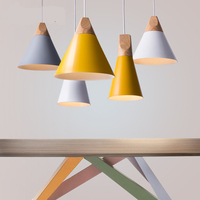 Pendant Lights Lustres Abajur Pendant Lamp Luminaire Hanglamp Colorful Aluminum Lamp Shade For Home Lighting Dining