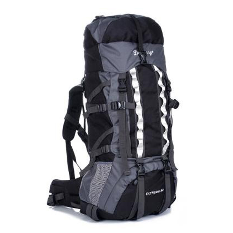 80L+20L Outdoor Camping Hiking Fishing Climbing Backpack Adjustable Waterproof Mountaineering Rucksack Sports Travel Bags multifunctional professional handle pulley roller gear outdoor rock climbing tyrolean traverse crossing weight carriage fit