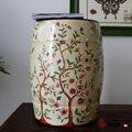Chinês flor e do pássaro cerâmica assento fezes mobiliário para interior