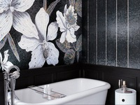 featuring Flower Power Hand made mosaic tiles made in China
