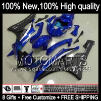 Body Body For YAMAHA YZFR6 06 07 Blue Black YZF 600 YZF R 6 YZF600 JK96