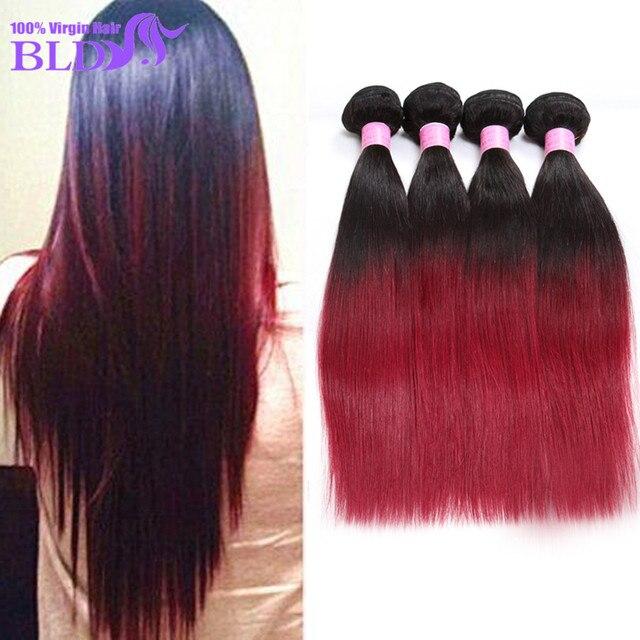 Big Discount Brazilian Virgin Hair Straight 5pcs Bundles Ombre Black