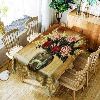Mantel Meijuner, mantel de paisaje realista, manteles cuadrados de poliéster, manteles cuadrados, mantel Rectangular para mesa de comedor, café