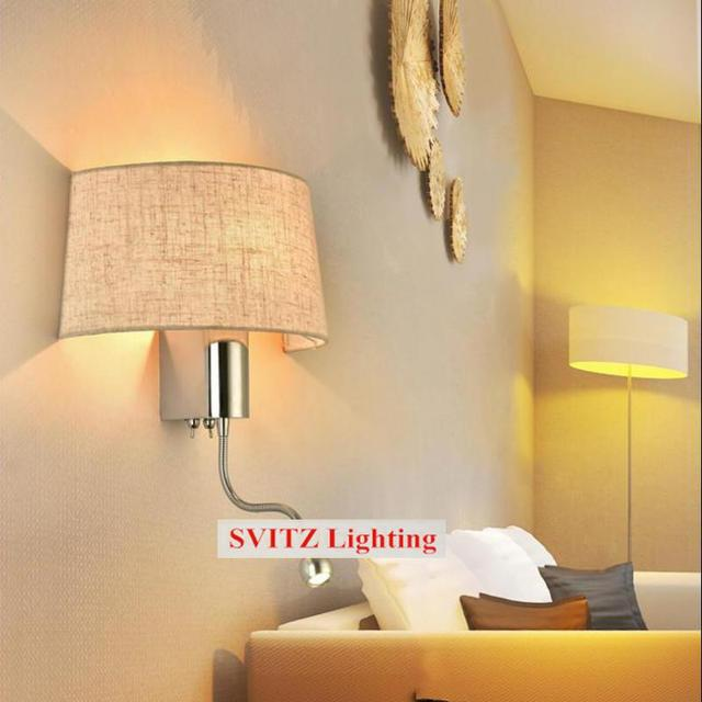 Beige Semicircular wall light for art studio hotel guest room passage lamps E27 + 1W led night light bedroom project led sconce