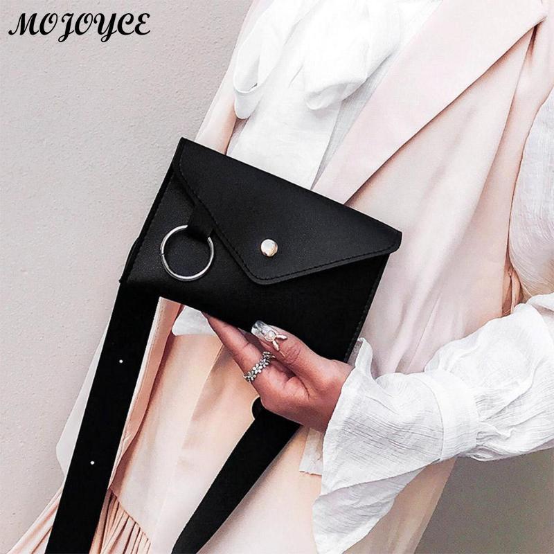 Chic Waist Pack Női egyszerű PU bőr szatén Derék mellkasi csomag - Derék csomagok
