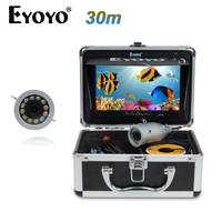 EYOYO Original Video Fish Finder HD 1000TVL 30M Underwater Fishing Camera Invisible 7 Monitor White LED