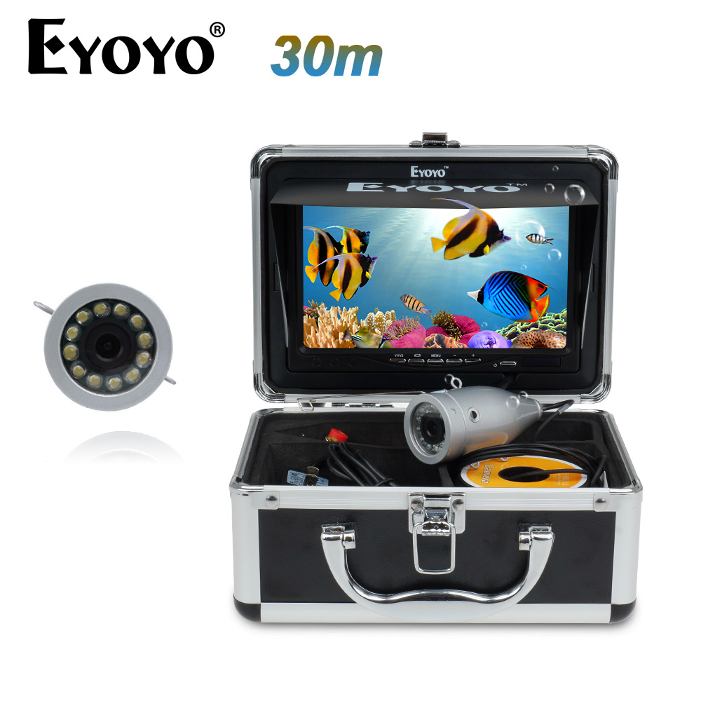 EYOYO Original Video Fish Finder HD 1000TVL 30M Underwater Fishing Camera Invisible 7 Monitor White LED Fish Cam for Lakers баскетбольную форму lakers