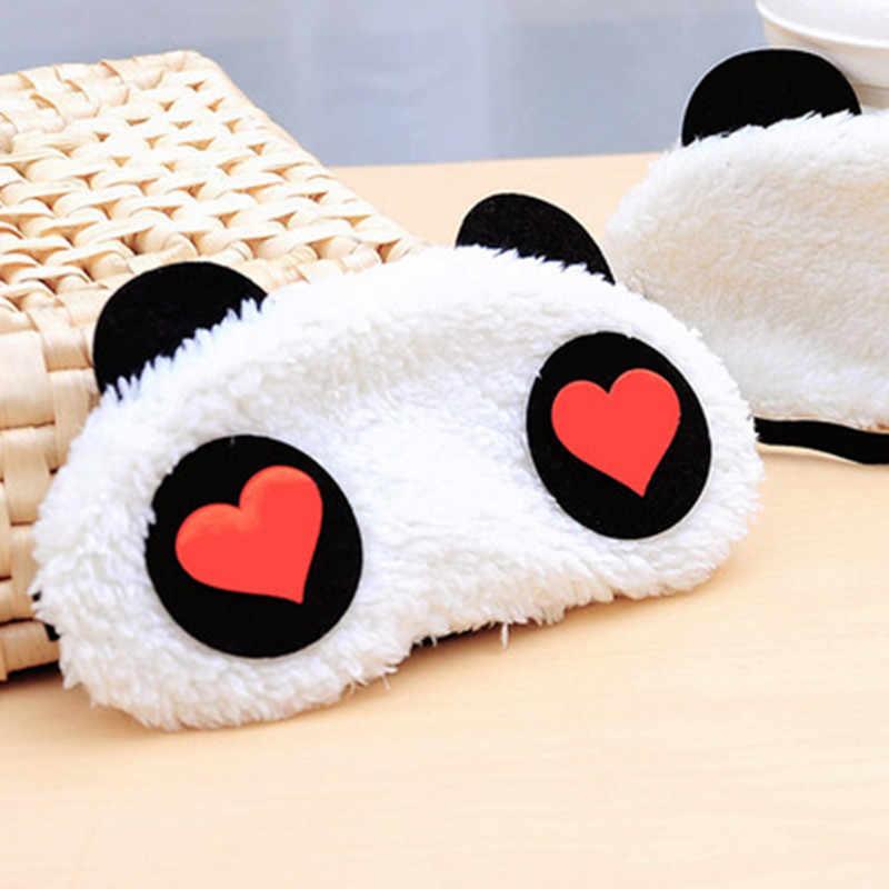 Новая Милая маска для лица белая маска глаза панды тени для век хлопковые очки для сна маска для сна повязка на глаза, маска для сна забота о здоровье