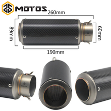 ZS MOTOS Laser Marking SC MUFFLER Universal 60mm Dirt Bike Exhaust Motorcycle Escape Modified Scooter Muffler