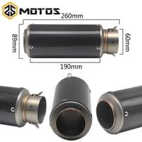 ZS MOTOS Laser Marking SC MUFFLER Universal 60mm Dirt Bike Exhaust Motorcycle Escape Modified Scooter Exhaust Muffler