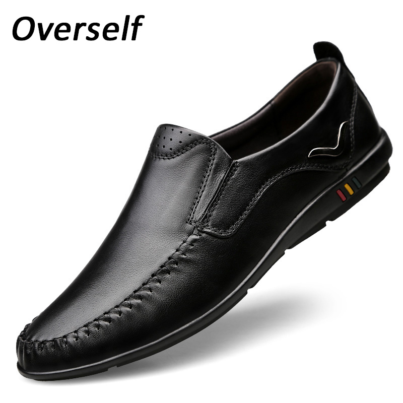 Men's Leather Casual Shoes Moccasins Big Men Loafers Luxury Brand Spring New Fashion Sneakers Male Boat Shoes Plus Size to 45 2016 new arrive spring or summer fashion hole jeans male plus size plus size loose big personality hiphop skinny harem jeans