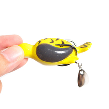 1PCS New Pesca Pike Fishing Lure Artificial Bait 14g 65mm Sinking Duck Lure Soft Baits Fishing Wobblers Frog Lure