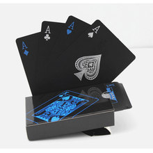 Black Waterproof Plastic Pvc Poker Playing Cards Creative Gift Practical Magic Board Game Educational Toys