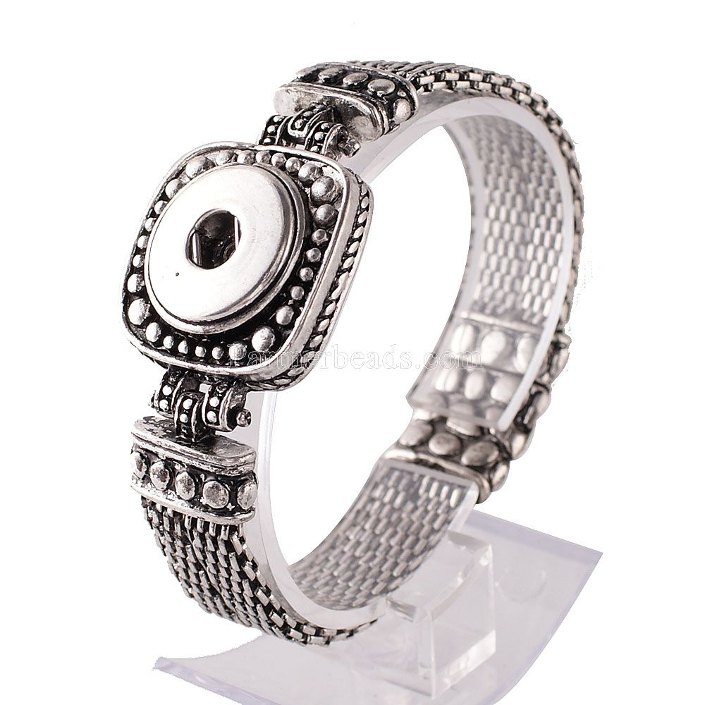 Hot wholesale Snap Bracelet&Bangles Charms Metal Bracelets For Women Fit 18mm DIY Partne ...