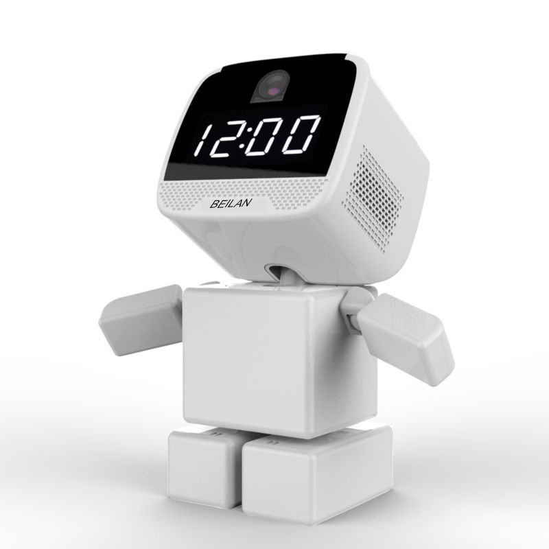 Robot Wireless ip Camera Wi-fi WIFI Clock Camera 960p Support 64G memory card Network Night Vision Security CCTV Remote 1.3MP