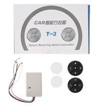 Volante Universal para coche, GPS, inalámbrico, Control remoto, tecla de botón inteligente