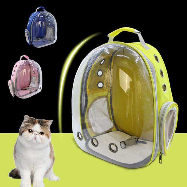 Portable Cat Bag Pet Cat Carrier Bag Transparent Capsule Breathable Travel Cat Dog Bird Backpack