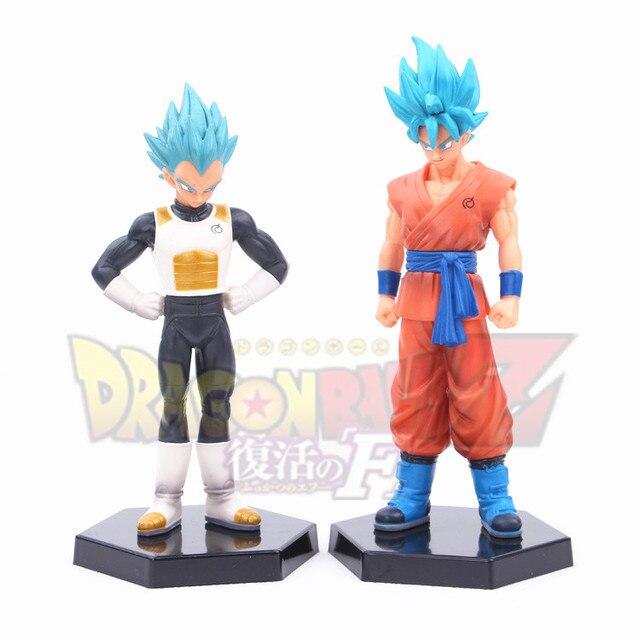 Caliente! nuevo 2 unids 18 cm Dragon Ball Dragon Ball Z Super Saiyan vegeta Son Goku Kakarotto figura de acción juguetes