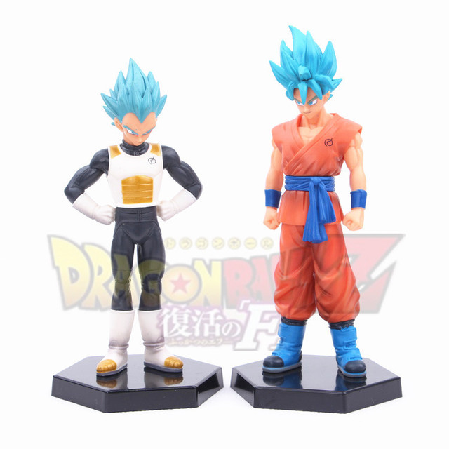 Hot! Novo 2 pcs 18 cm Dragon Ball Dragon Ball Z Super Saiyan vegeta Goku Kakarotto figura de ação brinquedos