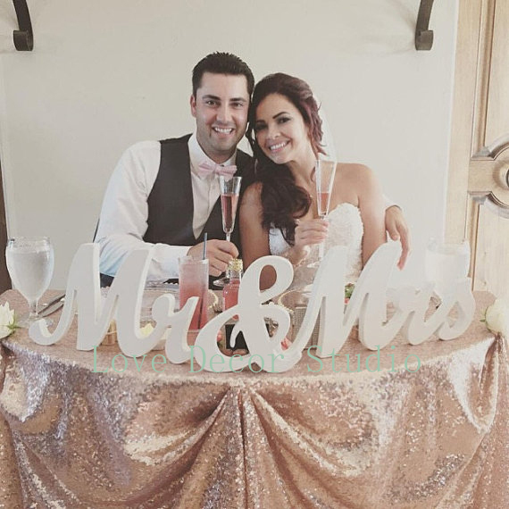 Wooden pvc Mr and Mrs Wedding sign, Wedding Decor, Wedding, Mr & Mrs wedding decoration MR&MRS letters